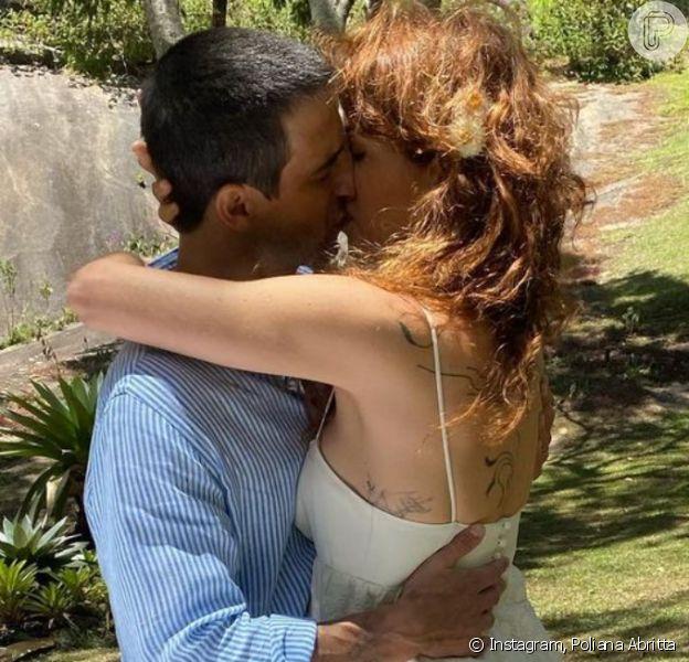 Foto do casamento de Poliana Abritta com Chico Walcacer é revelada no Instagram da jornalista