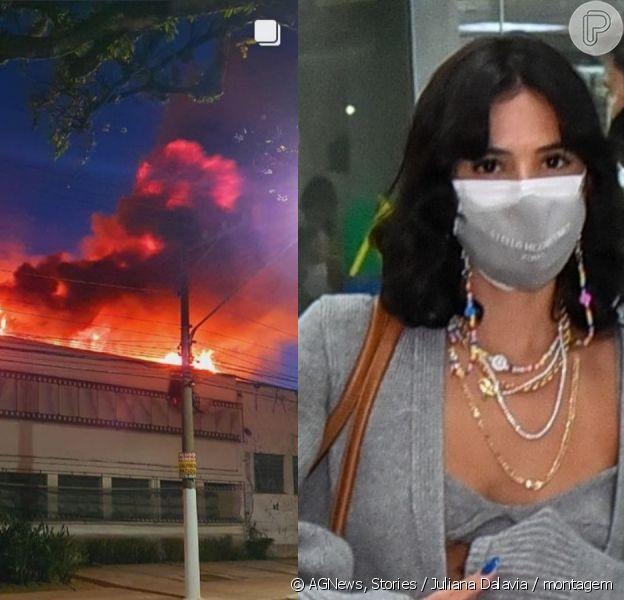 Bruna Marquezine e mais famosas lamentam incêndio da Cinemateca Brasileira