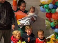 Camilla Camargo faz festa para filho Joaquim: 'Nunca havia brincado com tanta criança'