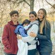 Aos 16 anos, Jaime Vitor já está mais alto que a mãe, Kelly Key
