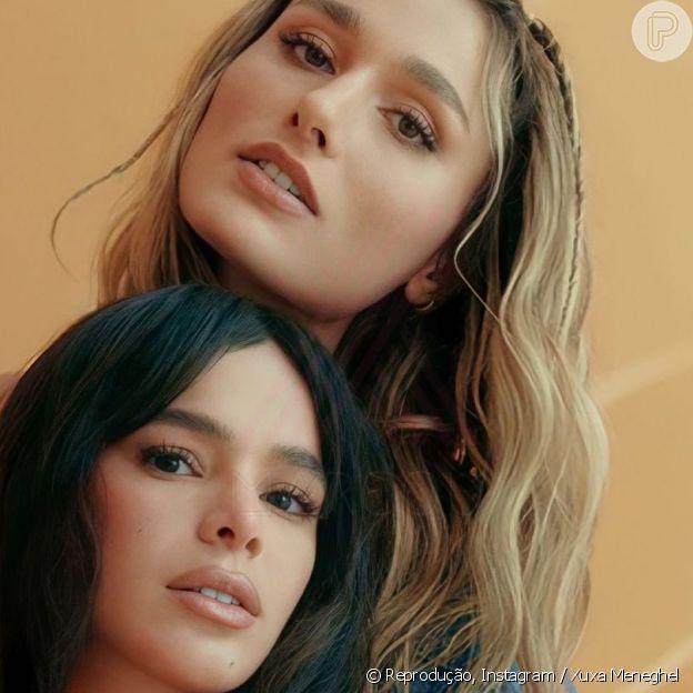 Bruna Marquezine chamou atenção em foto com amiga Sasha Meneghel