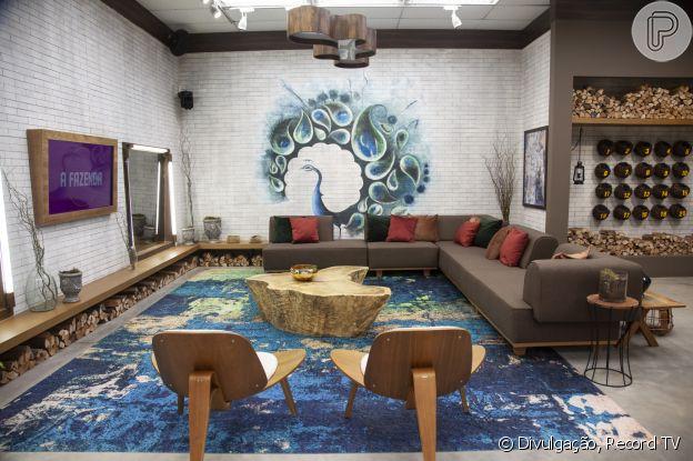 Foto da sala do 'A Fazenda 12'
