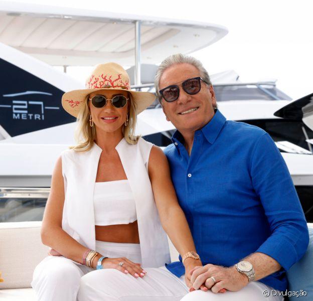 Roberto Justus e Ana Paula Siebert viajam para a frança para conhecer novo modelo de megaiate de luxo