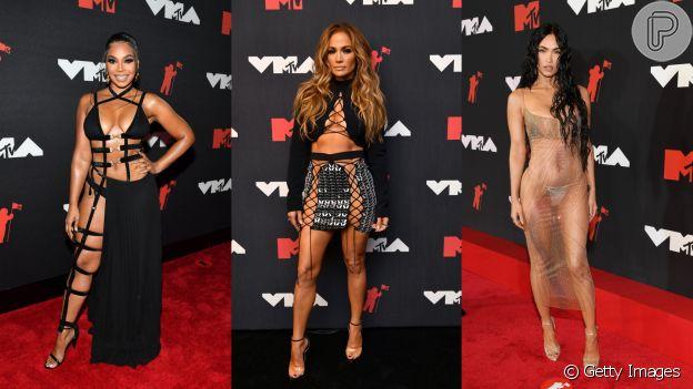 Looks do VMA com tendência cut-out e transparência