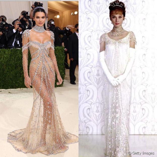 Look de Kendall Jenner do MET Gala era versão contemporânea de Audrey Hepburn em filme 'My Fair Lady'
