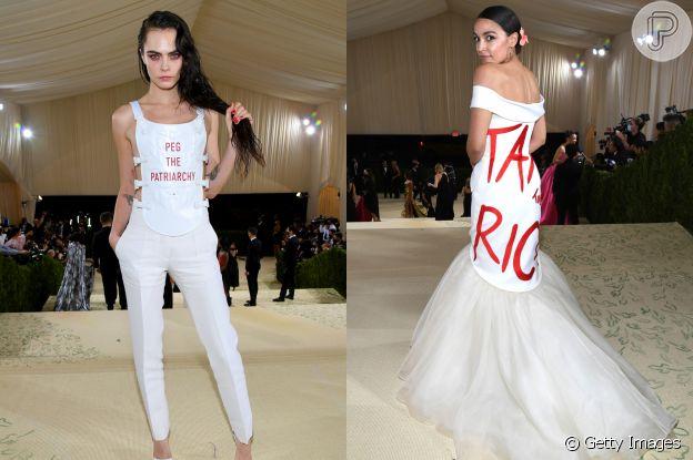 Looks do MET Gala ganham recados de Cara Delevigne e Alessandra Ocasio