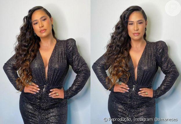 Look justo e decotado de Simone valoriza curvas da cantora