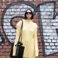 Butter yellow em look monocromático na Milan Fashion Week
