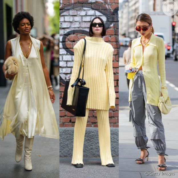 Butter yellow e mais cores do street style em Milão e Londres para usar em 2022 (ou antes!)