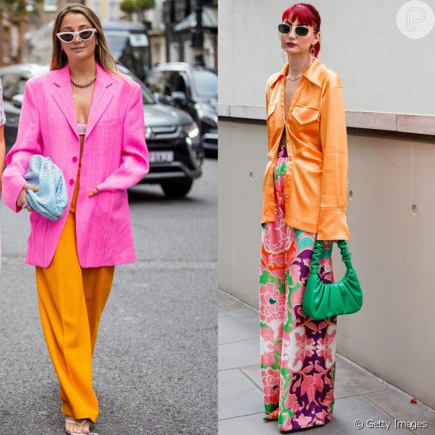 Confira as cores do street style em Milão e Londres