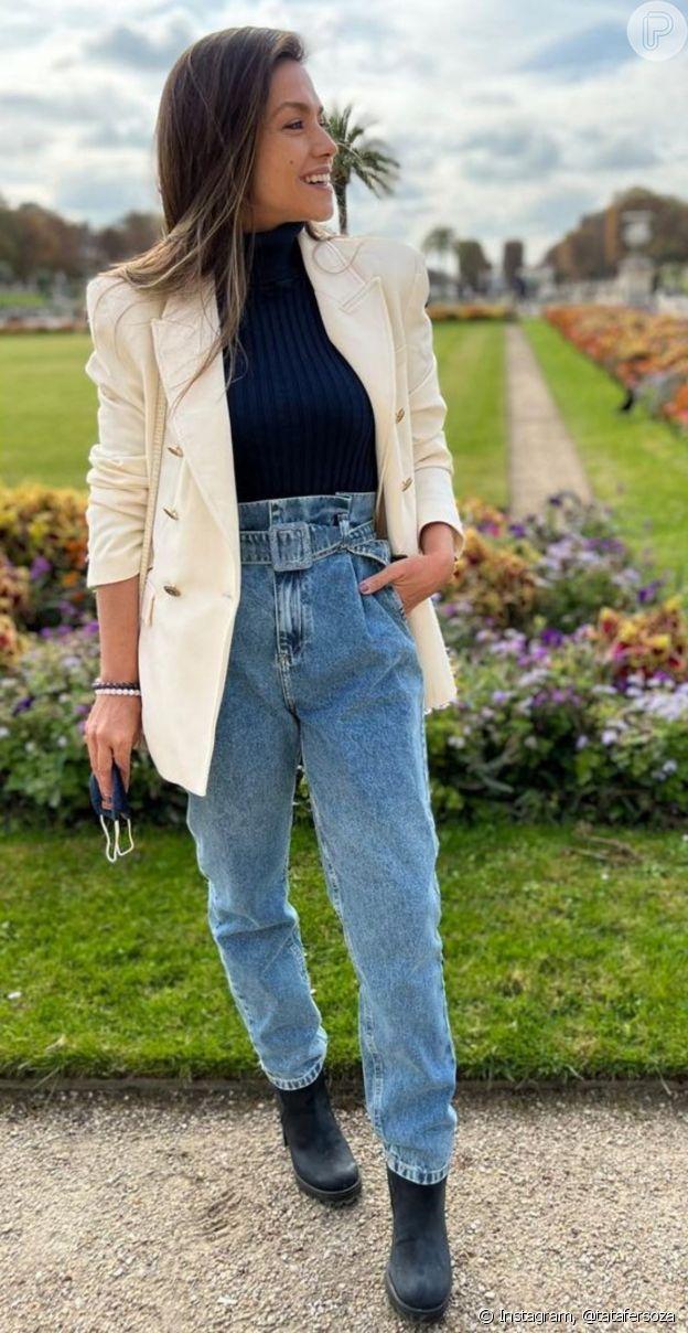 Look de Thais Fersoza: atriz usou calça clochard, hit dos anos 80