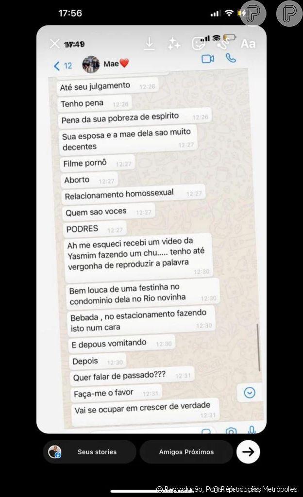 Conversa entre Simone Medina e Gabriel Medina