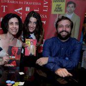 Fernanda Torres e Gregório Duvivier lançam livros com presença de Clarice Falcão