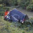 O veículo do ator caiu em uma ribanceira à beira de um riacho