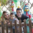 No primeiro aniversário do pequeno, Wanessa e Marcus Buaiz escolheram o tema Fazendinha como tema da festa