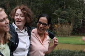 Gloria Pires interpreta no cinema uma homossexual que vive um romance a três