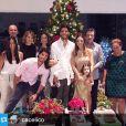 Carol Celico e Kaká também passaram o Natal juntos em família