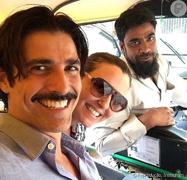 Reynaldo Gianecchini está curtindo uns dias de férias na Índia