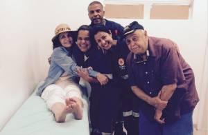 Rosamaria Murtinho rompe ligamentos do tornozelo após tombo em Angra dos Reis