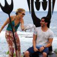 Angélica leva Ricardo Tozzi para mergulhar com tubarões no programa 'Estrelas' exibido neste sábado, 10 de janeiro de 2015