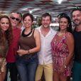 Alexandre Nero, Viviane Araújo e Leandra Leal, da novela 'Império', se divertem em samba na Escola da agremiação do Salgueiro, no Rio de Janeiro