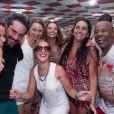 Alexandre Nero, Viviane Araújo, Adriana Birolli e Leandra Leal, da novela 'Império', fazem a festa com elenco de 'Império' na quadra da Escola de Samba Salgueiro, no Rio