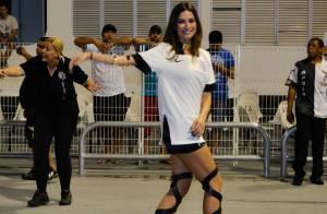 Carnaval 2015: Thaila Ayala usa sandália estilosa em ensaio da Gaviões da Fiel