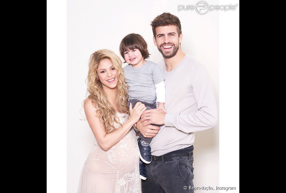 Milan, filho de Shakira e Gerard Piqué, completa 2 anos nesta quinta-feira, 22 de janeiro de 2015