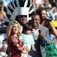 Milan esteve no Brasil em junho de 2014 para acompanhar a mãe na festa de encerramento da Copa do Mundo