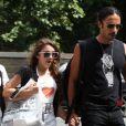 Lourdes Maria foi flagrada com o pai, Carlos Leon, em Nova York, em julho de 2008