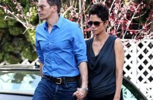 Halle Berry está grávida de três meses do noivo Olivier Martinez