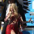 Shakira participou do show de encerramento da Copa do Mundo em 2010, no Brasil