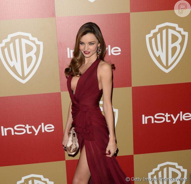 Miranda Kerr negou boatos de que não renovou contrato com Victoria's Secret por ter 'reputação de difícil', em abril de 2013