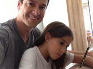 Rodrigo Faro mostra seu lado paizão: 'Estudando com a Clara para a prova'