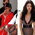 Justin Bieber faz o rosto de Selena Gomez em seu braço esquerdo, em 22 de abril de 2013