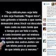 Ticiane Pinheiro publica texto de Arnaldo Jabor no Instagram e recebe elogios dos seguidores, em 28 de abril de 2013