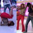 Ticiane Pinheiro dançou 'Quadradinho de 8', no 'Programa da Tarde', da TV Record