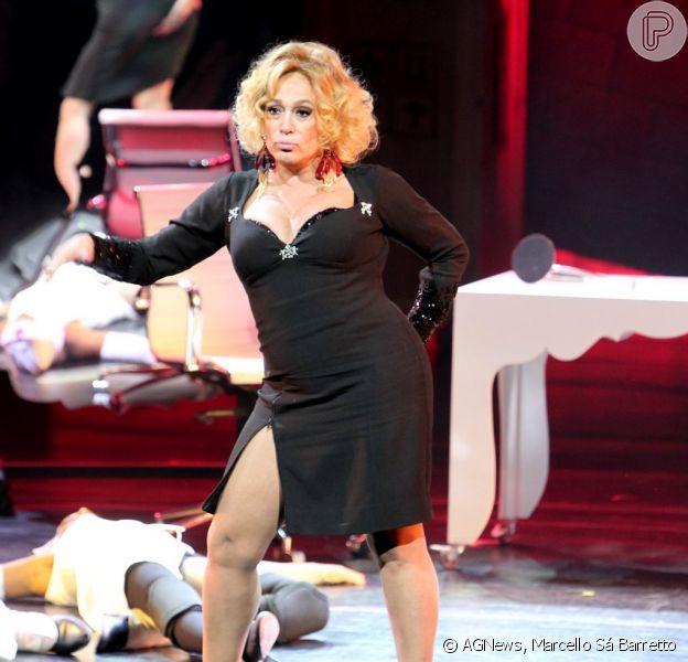 Susana Vieira apresenta musical 'Barbaridade' no Teatro Oi Casa Grande, no Rio, nesta terça-feira, 17 de março de 2015
