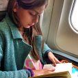 'Minha amada.... Leitura de bordo!!!', escreveu o paizão em uma das idas e vindas para o Rio de Janeiro