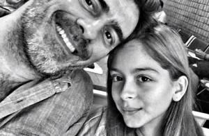 Junno Andrade publica foto antes de embarcar no Rio com a filha Luana
