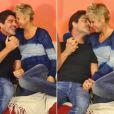 Xuxa e Junno trocaram carinhos nos bastidores do programa 'TV Xuxa' na quinta-feira (2)