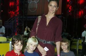 Fernanda Lima leva os gêmeos João e Francisco para a estreia do 'Disney On Ice'