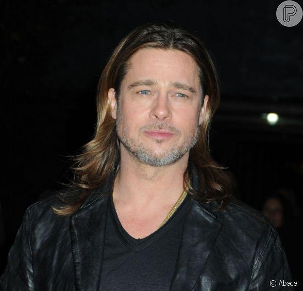 """Brad Pitt vem ao Brasil para divulgar seu novo filme, """"Guerra Mundial Z"""", em 13 de maio de 2013"""
