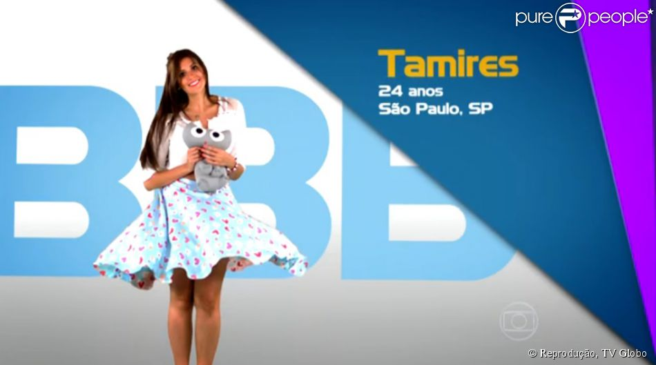 'BBB15': convidada para a final, Tamires reaparece na vinheta de abertura