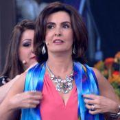 Fátima Bernardes experimenta véu árabe no 'Encontro': 'Ficou bonito, adorei'