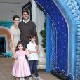 Carol Celico e Kaká comemoram aniversário de 4 anos da filha, Isabella, em São Paulo