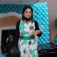 Rosangela Lyra, mãe de Carol Celico, foi comemorar o aniversário da neta, Isabella