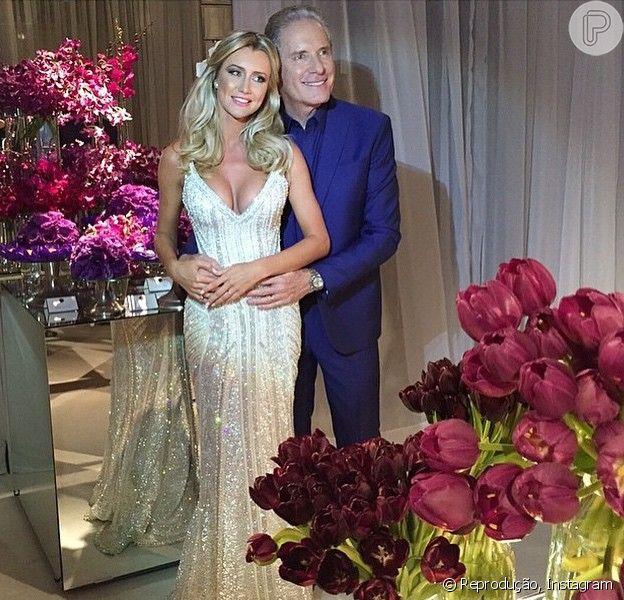 Roberto Justus se casou com a ex-Aprendiz Ana Paula Siebert no Leopolldo Buffet, em São Paulo, nesta quinta-feira, 30 de abril de 2014