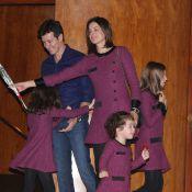 Filhas de Rodrigo Faro usam roupas iguais às da mãe, Vera Viel, em almoço