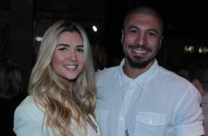 Fernando e Aline, do 'BBB', curtem festa com presença de Zilu e famosos, no Rio